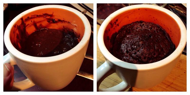 Schmutzie's Chocolate Chocolate Chip Coconut Microwave Mug Cake 2
