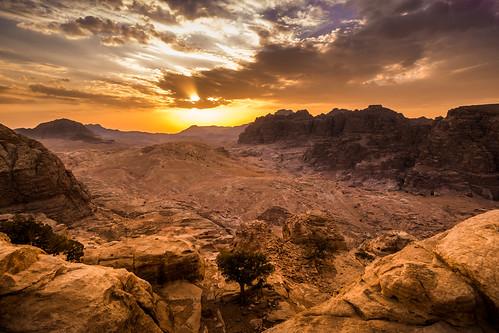 sunset landscape desert petra jordan highplaceofsacrifice