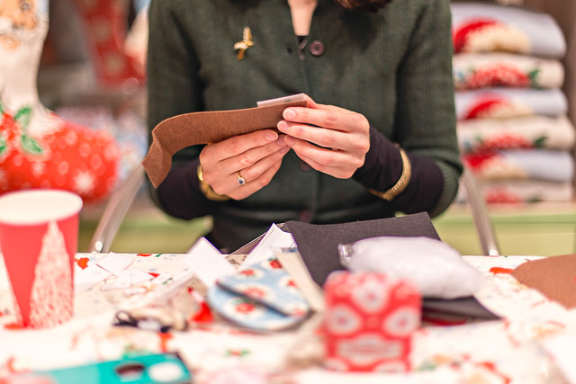 Bloggers' crafty evening at Cath Kidston, Oxford