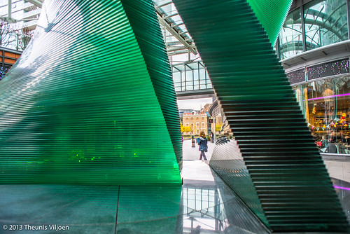 Double Helix Glass Sculpture - II