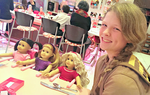 American Girl Cafe: guest dolls