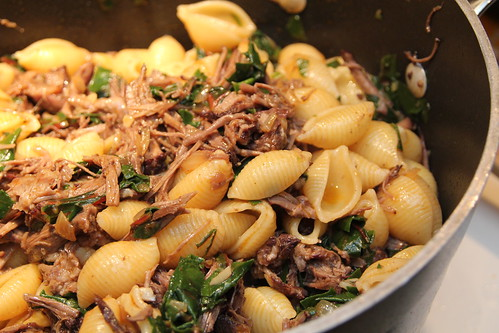 Pasta with cabernet braised shortribs
