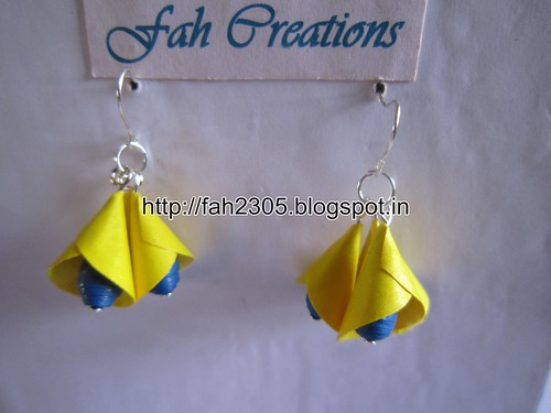 Handmade Jewelry - Paper Cone Bell Earrings (11) by fah2305