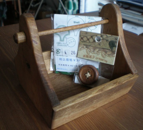 Wooden House Frame Sewing Box