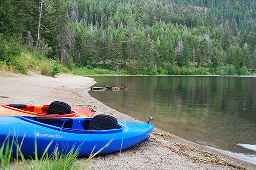 Early morning at Otter Lake Provincial Park, Tulameen, Tulameen Valley, Similkameen, British Columbia, Canada