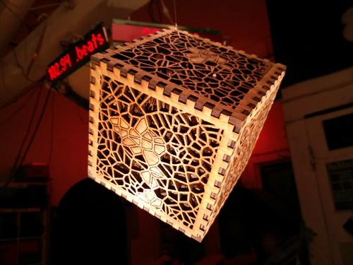 Large lace cube
