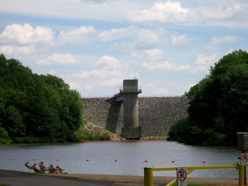 Hop Brook Lake Dam by Coyoty