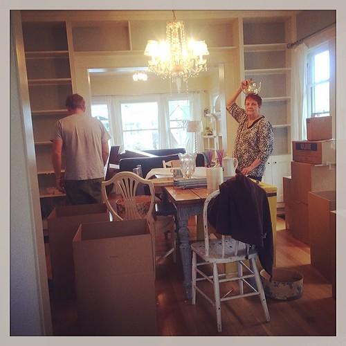 And while I work from the kitchen island these two are packing up the house. #lifearoundhere #helloadventure