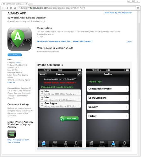 ADAMS iPhone application