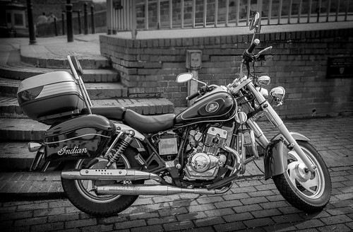 Indian Motorcycle b&w