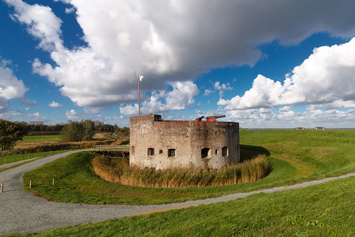 Fortress in Muiden, the Netherlands (Part of the Unesco site: Defence line of Amsterdam)