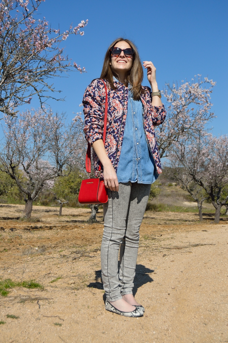 lara-vazquez-madlula-blog-jeans-shirt-red-bag-michael-kors
