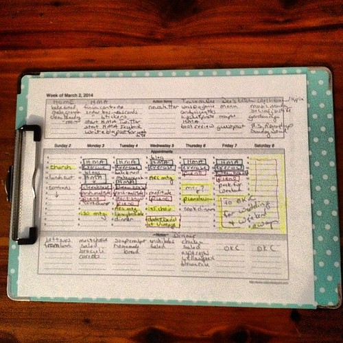 Week at a glance #gettingorganized