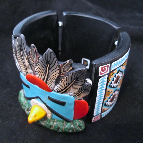 Eagle Kachina Tile Bracelet