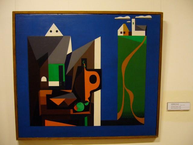 Oeuvre d'un artiste au Musée d'art Hongrois à Budapest.