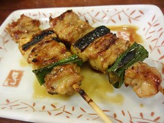 Chicken and Green Oniln on Skewer @Yakitori Daikic…
