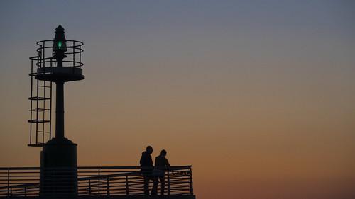 sunset silhouette faro tramonto rimini 2014