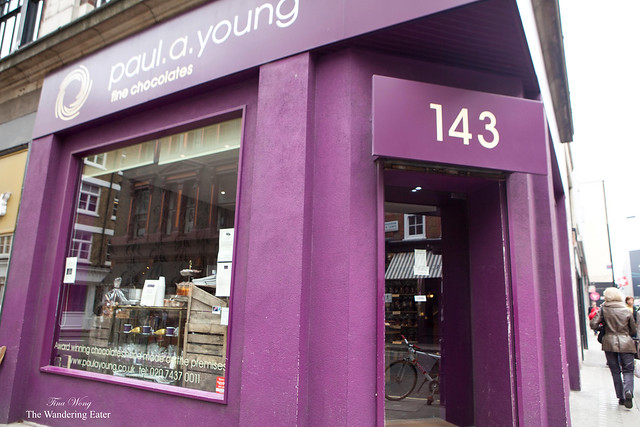 Exterior of Paul A Young Fine Chocolates in SoHo