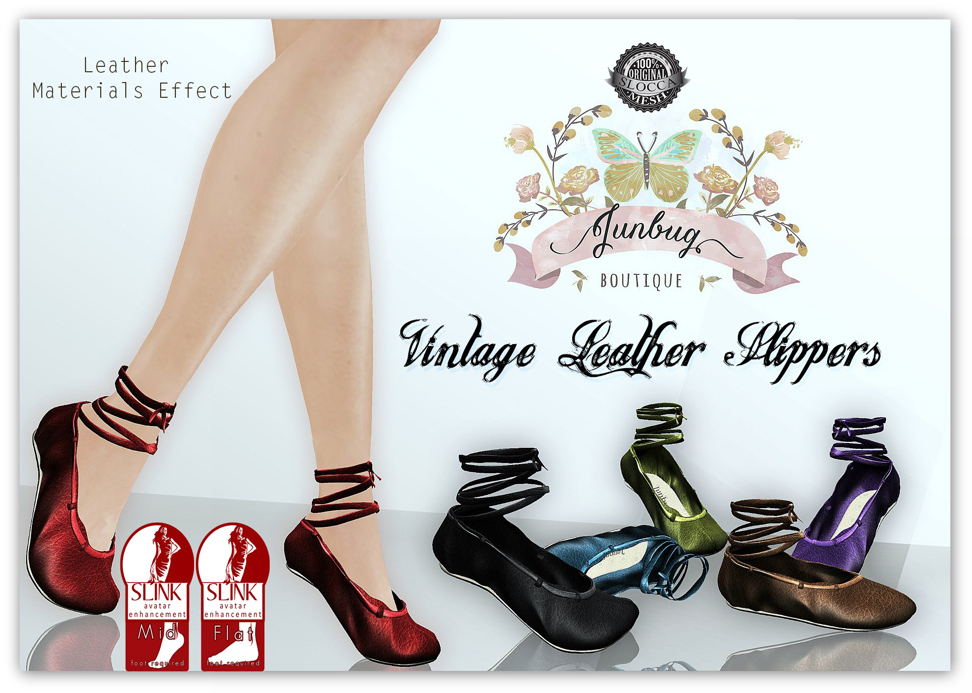 Vintage Leather Slippers for SLink