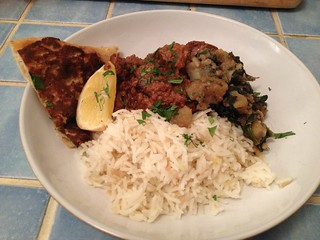 Fragrant and Hot Lamb Curry and Aromatic Rice