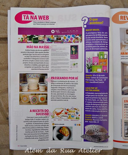 Matéria na Revista casa Linda
