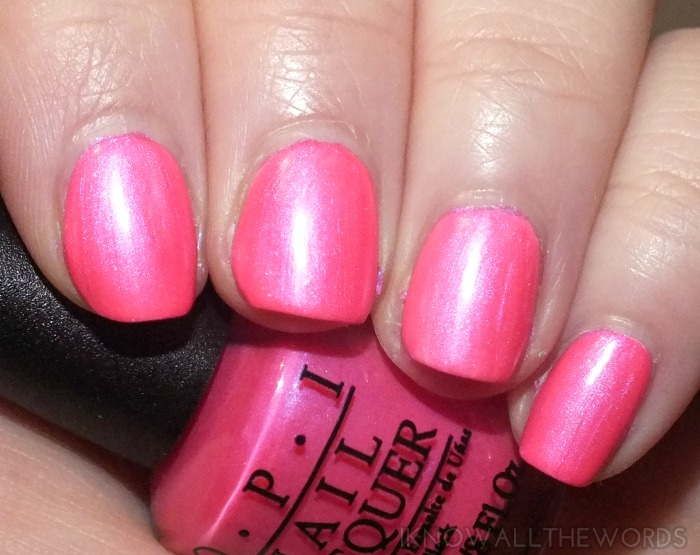 OPI Neons-  Hotter Than You Pink (2)
