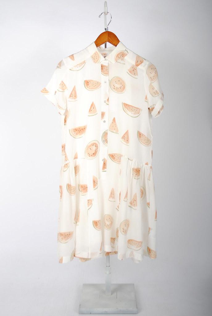 Watermelon Print Paneled Dress