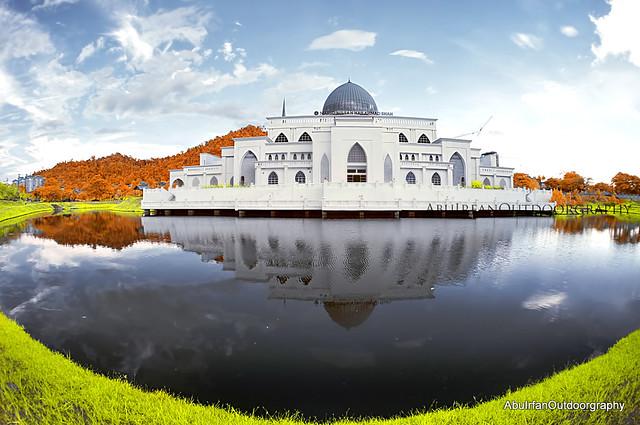 autumn infrared Mosque
