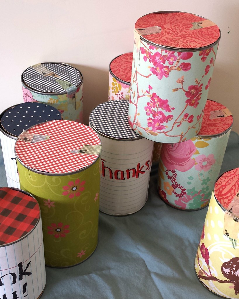 Tin can thank you gifts