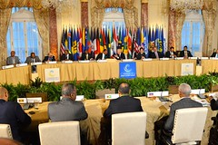Vice President Joe Biden hosts a multilateral meeting during the Caribbean Energy Security Summit at the U.S. Department of State in Washington, D.C., on January 26, 2015. [State Department photo/ Public Domain]
