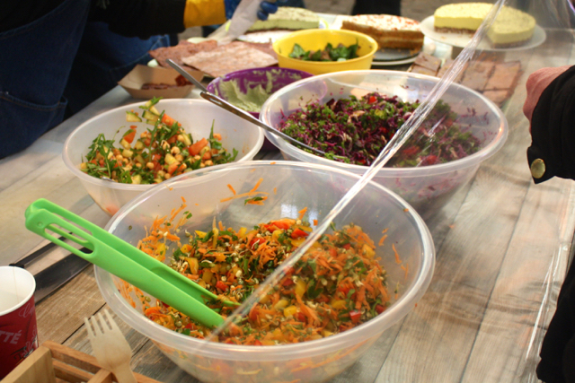 Vegan salads at the Greenwich Market, Greenwich