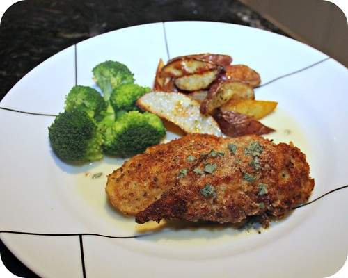 Chicken Milanese with Sage and Lemon Butter Sauce