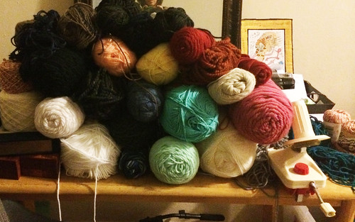 yarn collection before