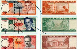 New Cuban banknotes 2015