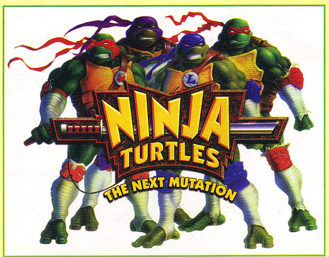 "Tomart's Action Figure Digest #xx :: pgs.26, 27 TOY FAIR '97, PLAYMATES ""NINJA TURTLES: THE NEXT MUTATION / ..early N.M. logo  (( April 1997 ))"