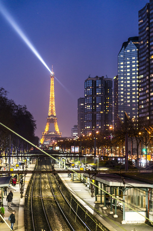 The Eiffel Tower from Javel Station