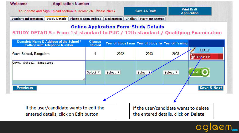 CET Karnataka 2015 Application Form