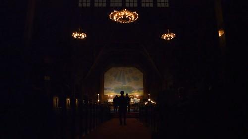 Prins Eugens altartavla i Kiruna kyrka.