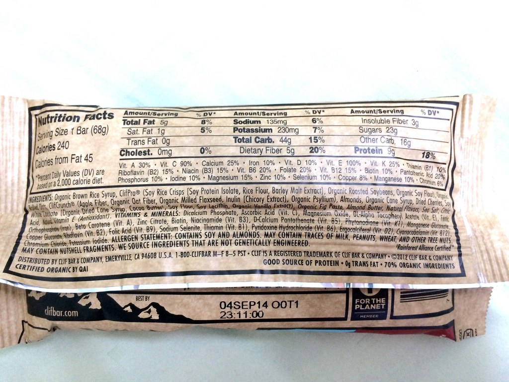 Clif Bar Review - Black Cherry Almond-002