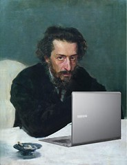 Pavel Blaramberg Blogging, after Ilya Repin