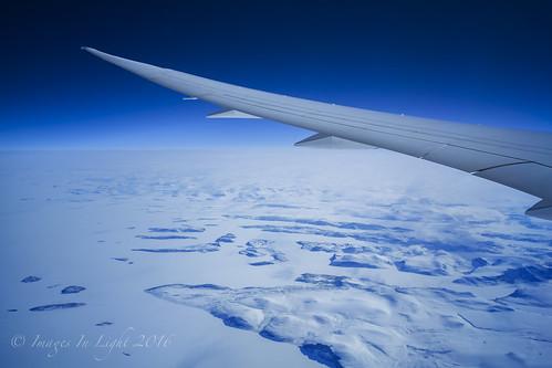 BA 787-9 over NE Canada