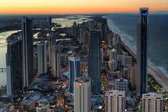 Gold Coast Looking North at Sunset