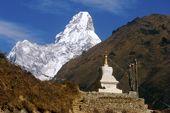 Nepal, Lodge-Trekking, Everest-Basislager. Ama Dablam, 6856 m. Foto: Archiv Härter.