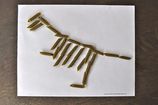 Penne Pasta Dinosaur T-Rex