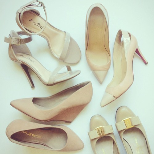 beige shoes