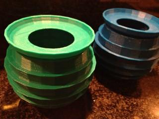 Groene vaas en Blauwe vaas