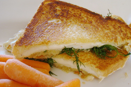 Provolone and Dill Grilled Cheese