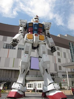 Full-Size Gundam Mock-Up at Shopping Mall