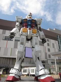 Full-Size Gundam Mock-Up at Shopping Mall