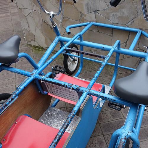 サンテパルクに来ています。こんな自転車を借りてみました(^-^)